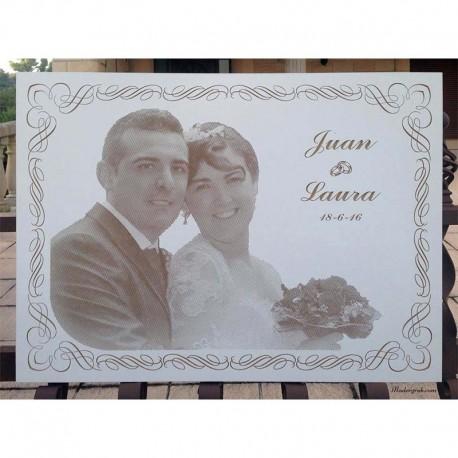 Fotograbado boda