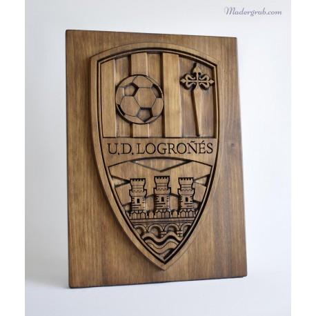 Escudo futbol madera