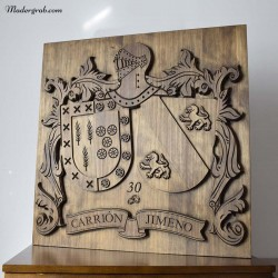 Escudo heráldico aniversario de boda