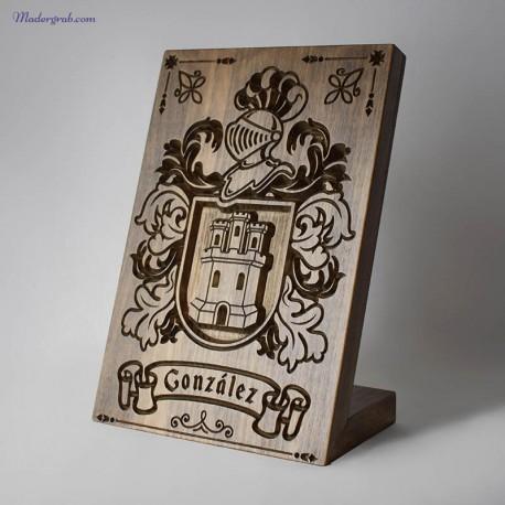Escudo heraldico peana apellido gonzalez