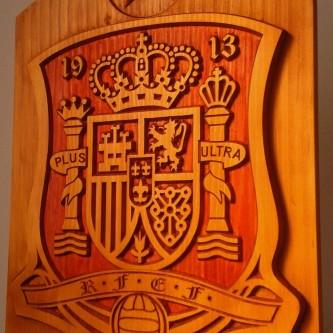 Escudo madera seleccion española